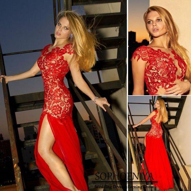 vestidos de fiesta largos con encaje2