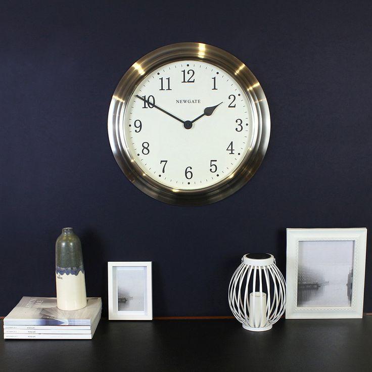 Buy Newgate Clocks The Large Nantucket Clock - Brushed Steel | Amara