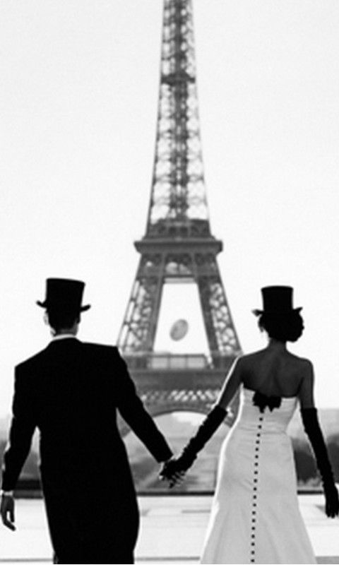 Love Paris, Eiffel Tower. | black and white & White and ...