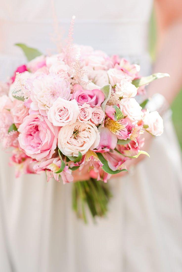 Rustic Chic Vineyard Wedding - soft pink bouquet