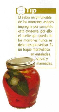 Morrones en conserva de aceite