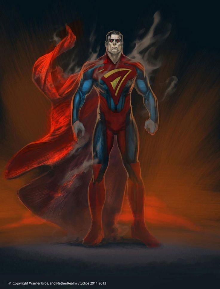 Superman Design from Injustice: Gods Among Us