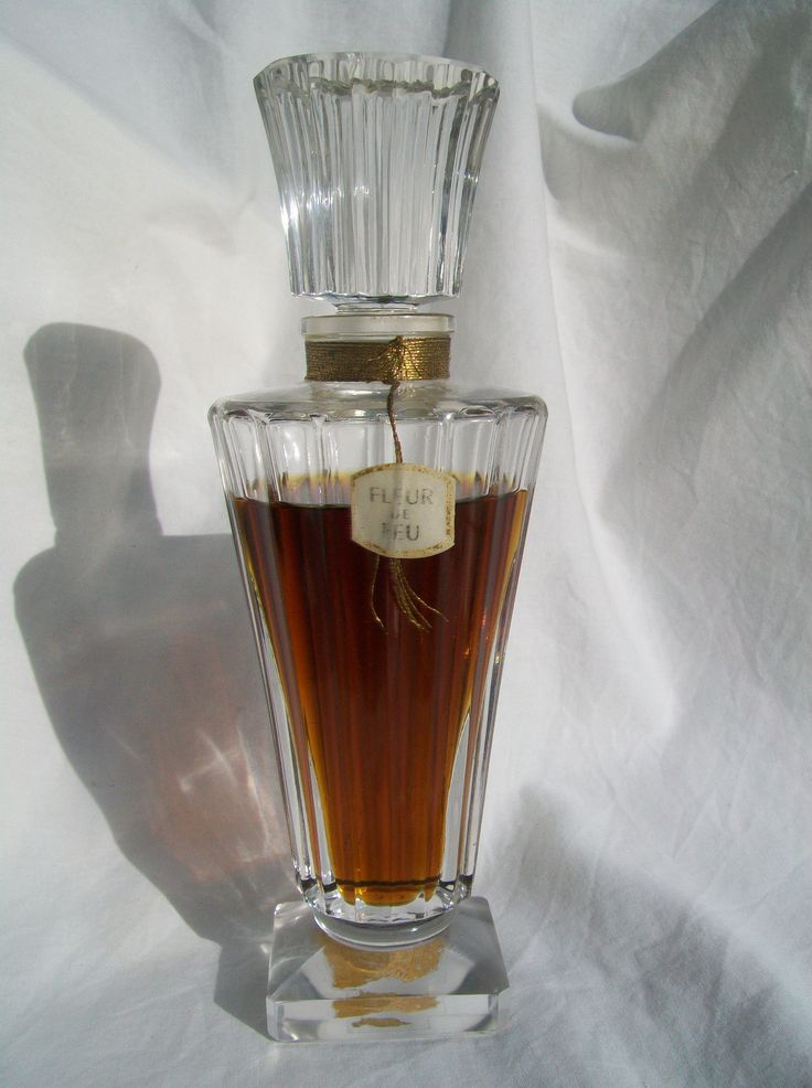 "Guerlain ""Fleur DE FEU""1948 Large Bottle Perfume Extract 18 2cm 80ml Nearly Full | eBay"