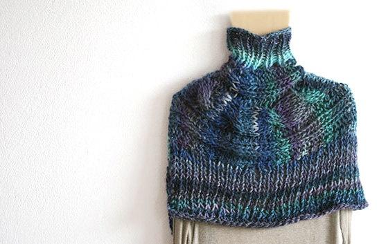 Hand+Knit+CAPELET/+PONCHO++Shoulder+Warmer+by+MarryGKnitCrochet,+$55.00