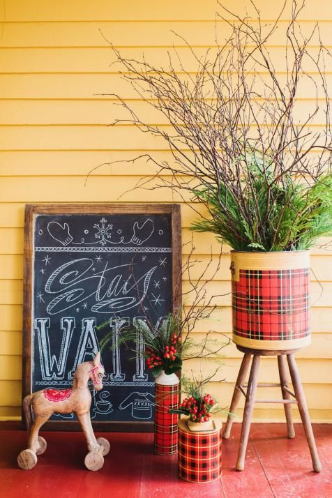 Vintage and Country Holiday Decor for a Front Porch | Holiday Decorating and Entertaining Ideas & How-Tos | HGTV