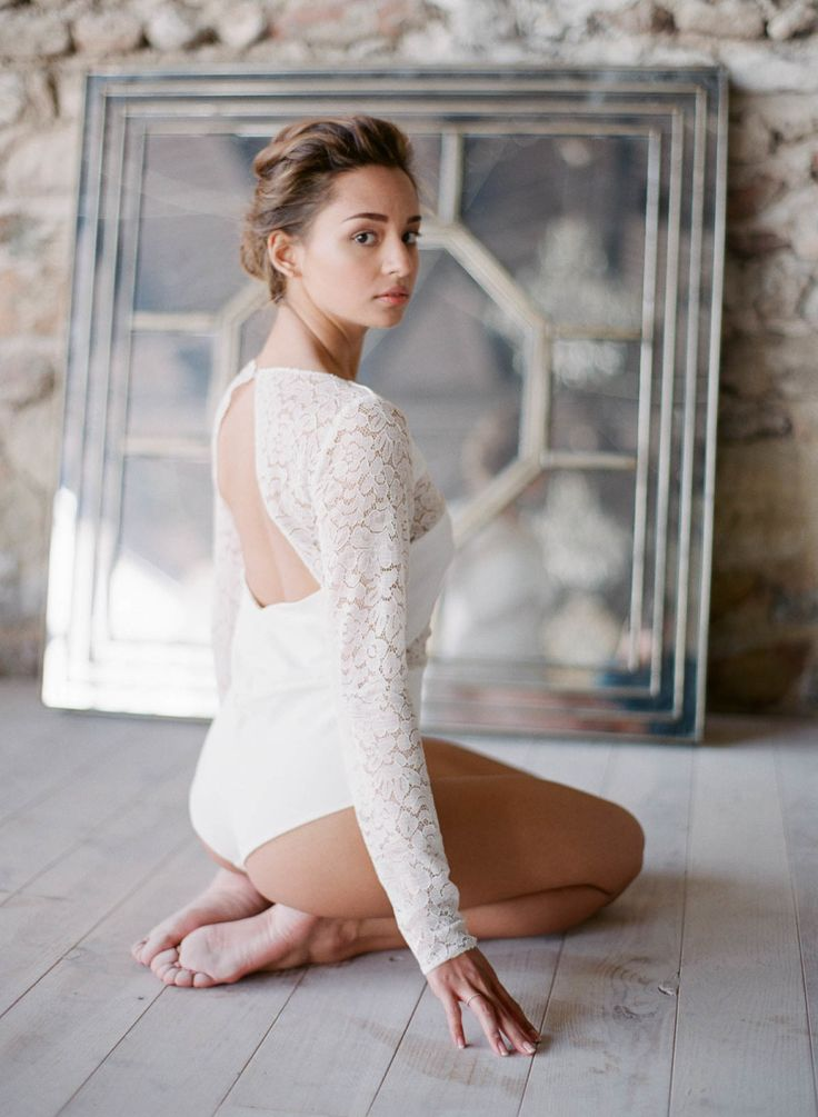 Lace leotard: Photography : Greg Finck Read More on SMP: http://www.stylemepretty.com/2016/12/01/embrace-your-inner-ballerina-with-this-wedding-inspiration/