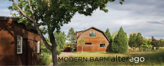 """An alter ego in Latin means """"the second I"""" – another, very different version of you, trapped inside and waiting to come out.  As a part of a compound, this existing barn structure has been transformed into a modern guesthouse. While the main house and other buildings on this compound are traditional in style, the Modern Barn caters to the client's modernist alter ego."""