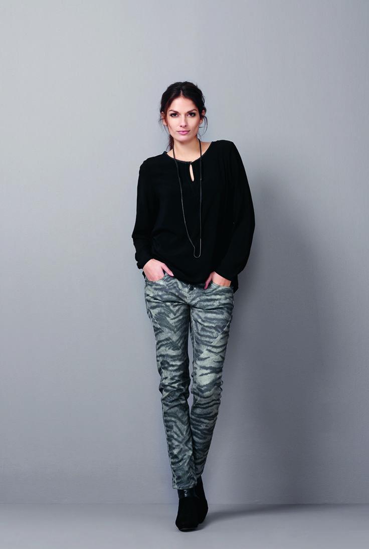 soyaconcept - blouse - pants - jeans - animalprint