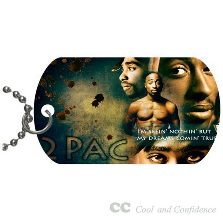 Custom 2pac Pet Dog Tag pendant necklace Chain #DIY