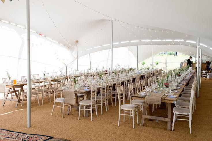 Our Great White Stretchtent, shown to beautiful effect! Such a sleek, glamorous alternative to a marquee that your guests will be talking about for months after the wedding. www.freestretch.co.uk
