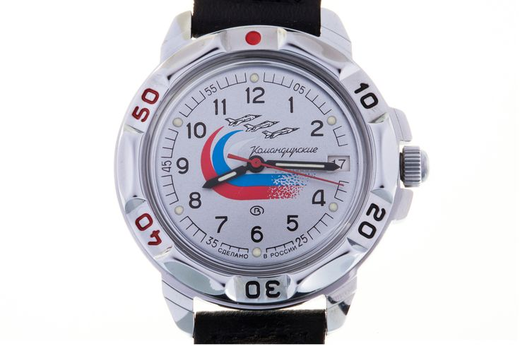 WATCH VOSTOK KOMANDIRSKIE 431562 RUSSIAN WINGS. In the center of the silvery watch face there is a fighter aviation group leaving a trail of air of the Russian tricolor behind. The colors of the flag symbolize: white – peace, purity, chastity; blue – faith, loyalty and truth; red – persistence, energy, strength, courage and blood shed for the Fatherland. #russian #mechanical #military #watches #vostok #komandirskie #gifts #souvenirs #anchor #eagle #warship