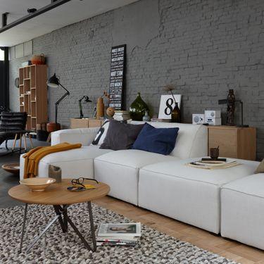 Bank Finn. Helemaal naar jouw wensen samen te stellen door losse elementen! Mix & match jouw ideale bank... #living #sofa #interior
