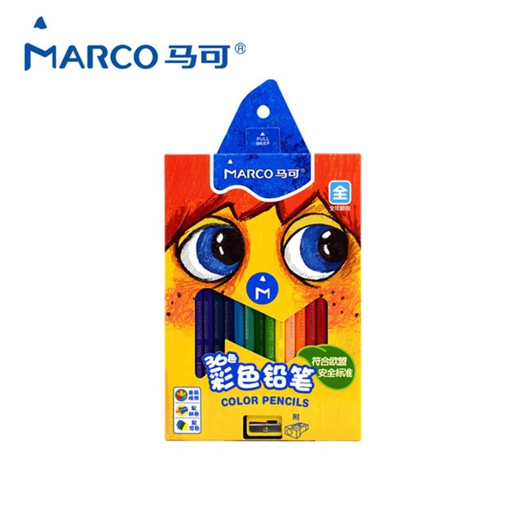 11.12$  Watch now - http://alij4m.shopchina.info/1/go.php?t=32813147656 - Marco Kids Colors Pencils Art Drawings set High Quality Oily Soft Core Wooden Box Lapis De Cor School Pencil for Kids gift   #aliexpressideas