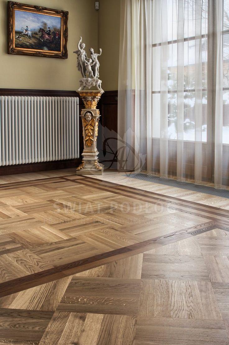Wyjątkowa podłoga do wyjątkowego wnętrza. Indywidualny projekt, styl pałacowy.  Świat podłóg, Warszawa, Bartycka, Podłogi drewniane  #palace #style #natural #floor #chateau