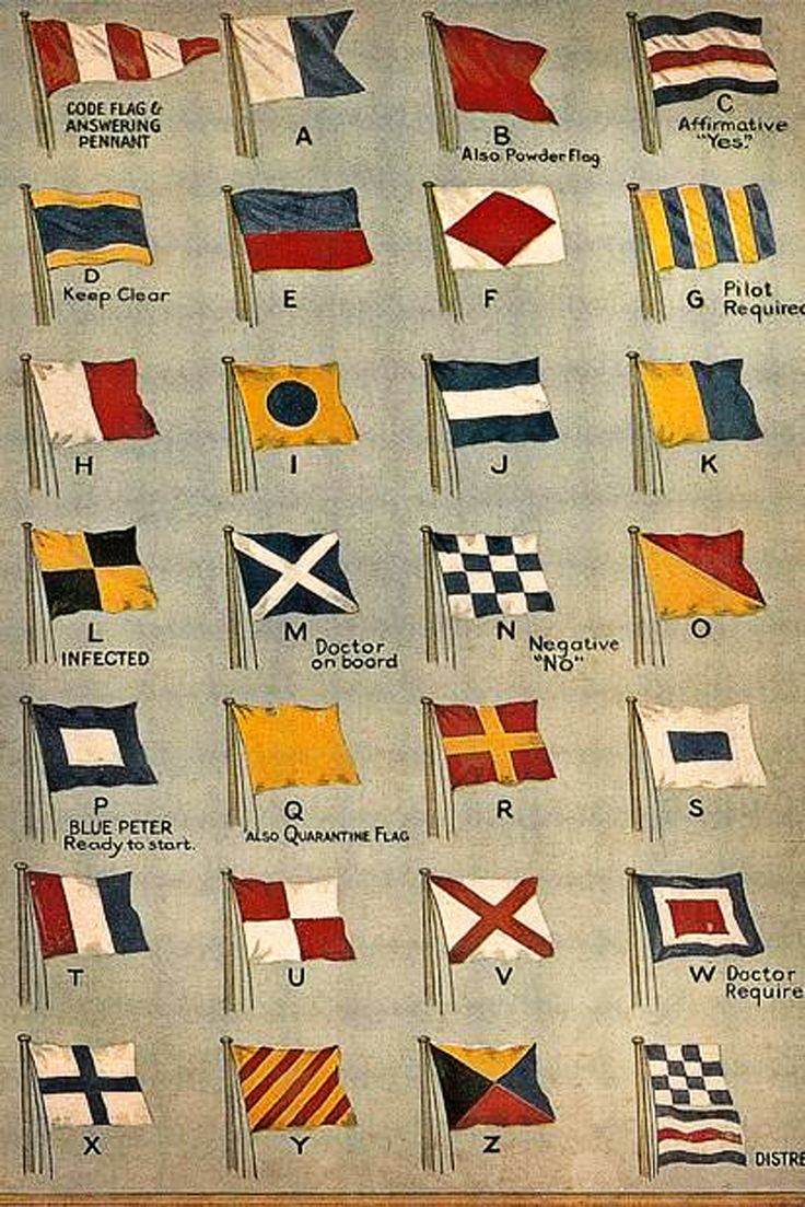 Vintage nautical signal flags