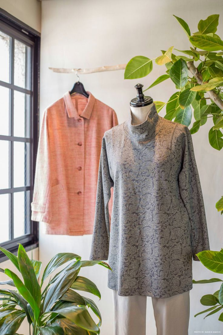 GRAPE Motomachi / Cotton Tencel Top #cotton #turtleneck #grey #grapemotomachi