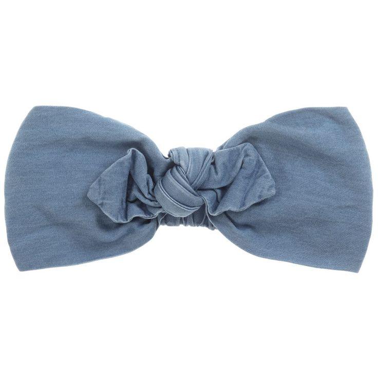Esprit Blue Cotton Denim Headband at Childrensalon.com