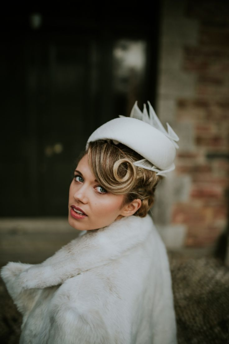 sculptural pill box hat Jackie O style #vintage #millinery #white #hats #hat #womenswear #accessories #pinup #glamour #wedding #races #hair #victoryroll #pincurl