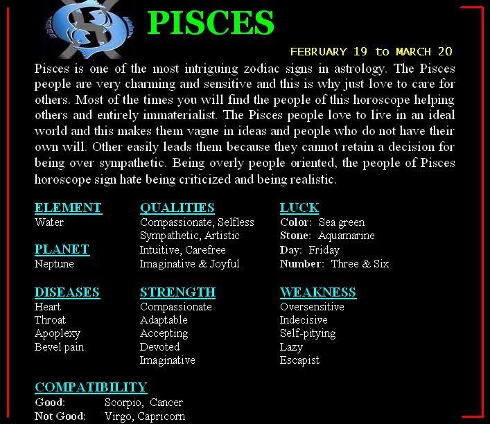 Pisces pisces match