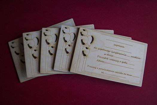 Zaproszenie na urodziny dziecka (PERSONALIZOWANE) 12 x 8 cm, grubość 3 mm 4,5 zł - 1 szt. info@dex-druk.pl