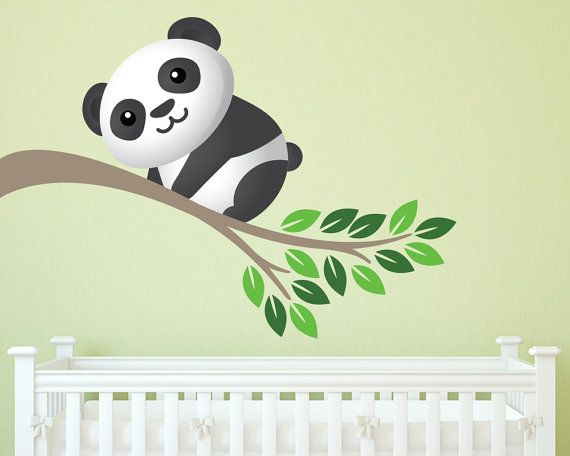 Wall Decals Nursery  Kids Wall Decal  Panda by LullaberryDecals