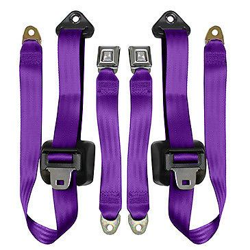 Jeep Wrangler 3 Pt Retractable Front Seat Belts, 1982-91 Pair, Purple