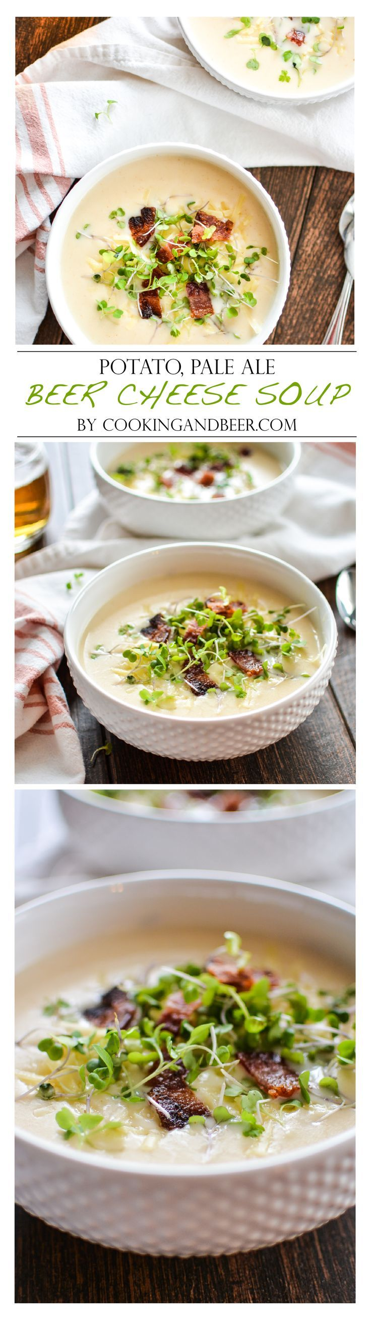 Potato, Pale Ale Beer Cheese Soup with Bacon | www.cookingandbeer.com | @jalanesulia