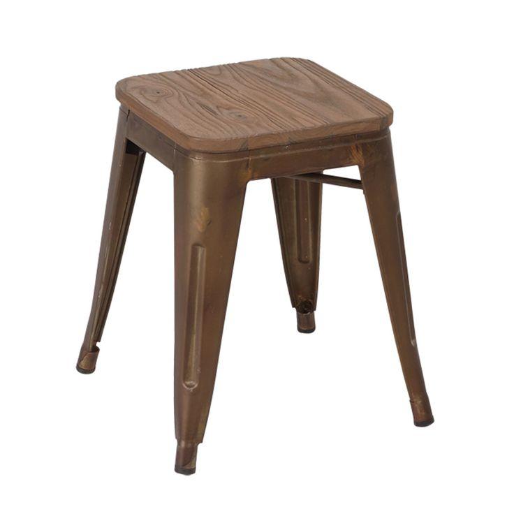 1000 ideas sobre taburete de metal en pinterest muebles - Taburetes de madera rusticos ...