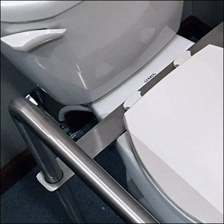 Best 25 handicap toilet ideas on pinterest handicap - Handicap bars for bathroom toilet ...
