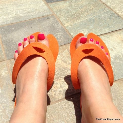 Isn´t it ironic: perfect beach weather put even the pedicure does´t save your swollen feet.