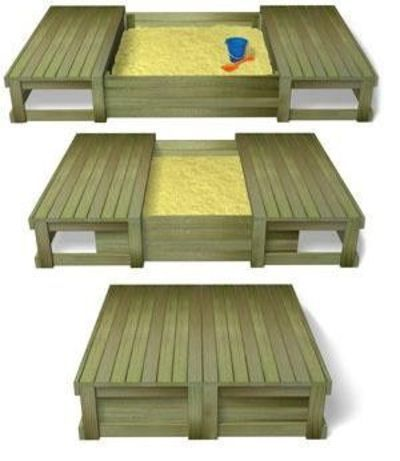 DIY try making this out of pallets... Perfect sand box for kids