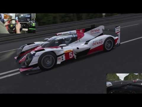 [39] XboxOne Forza 6 Racing Wheel Gameplay  Le Mans 2014 #8 Toyota Racin...