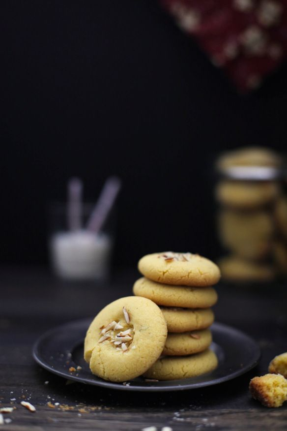 Indian Shortbread Cookies, Nan Khatai (eggless and vegan if you omit ghee and use a vegan butter.)