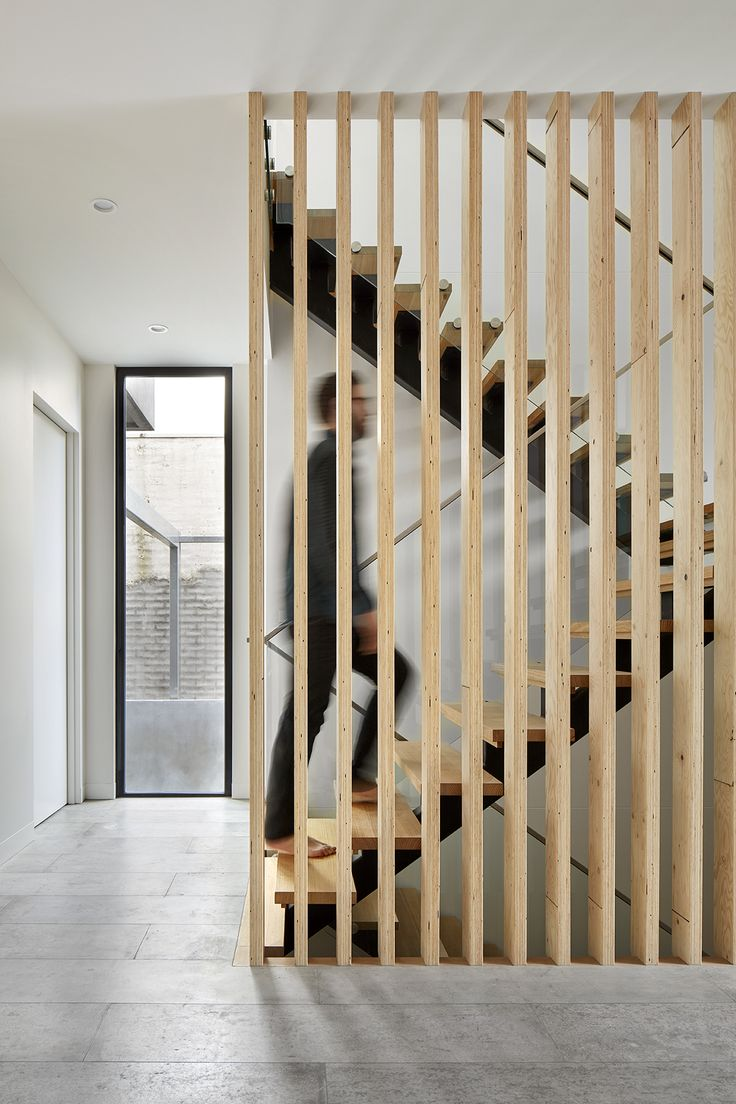 Timber LVL screen to staircase