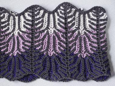 Ewe Ewe Wooly Lilac Vines Brioche Cowl Knitting Pattern PDF