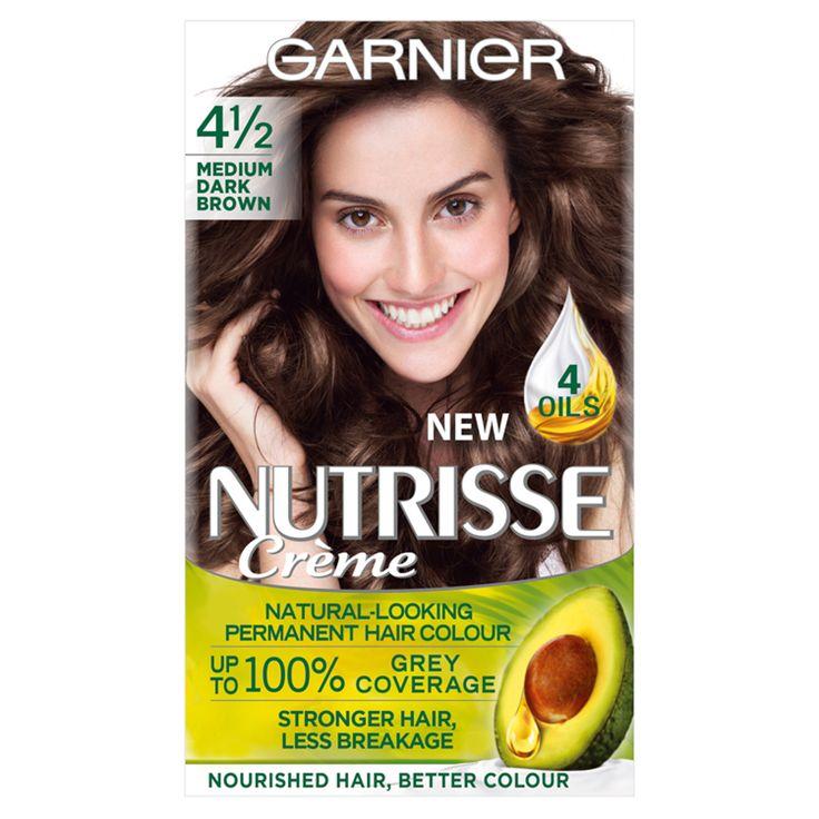 Garnier Nutrisse Creme 4 1 2 Medium Dark Brown Hair Dye Light