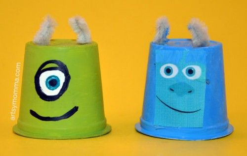 Monsters University Craft: Recycle K Cups into Mike and Sulley!