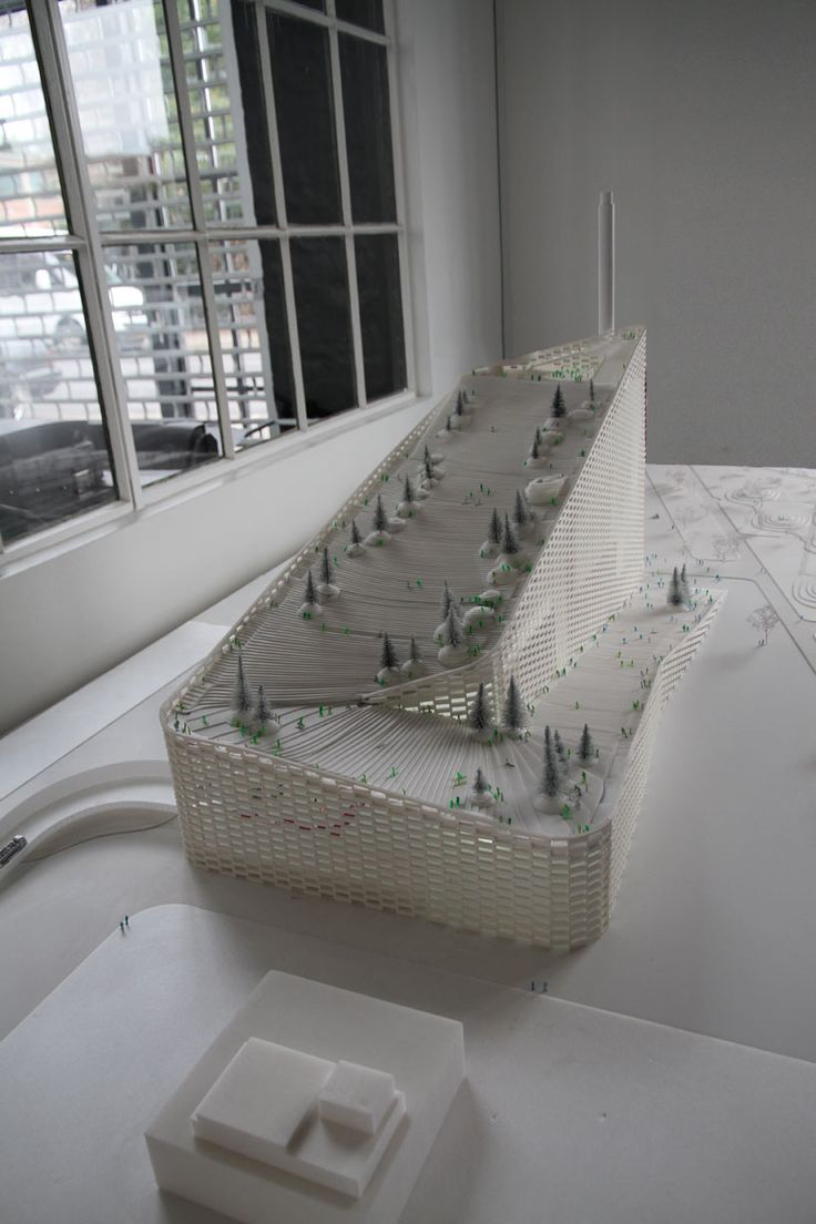 BIG architects' amagerforbraending incinerator model - designboom