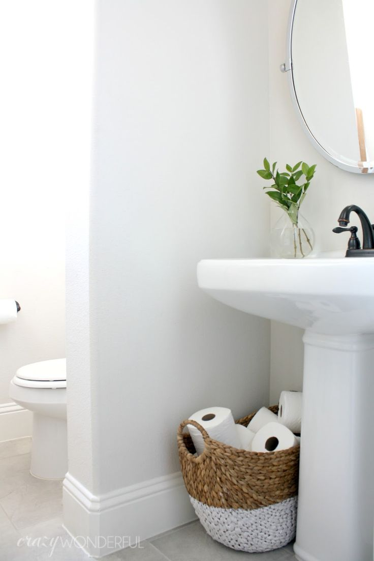 I guess the fancy term is powder room, but we just call it the hall bathroom. I've not purposely been holding this bathroom from you guys, ...