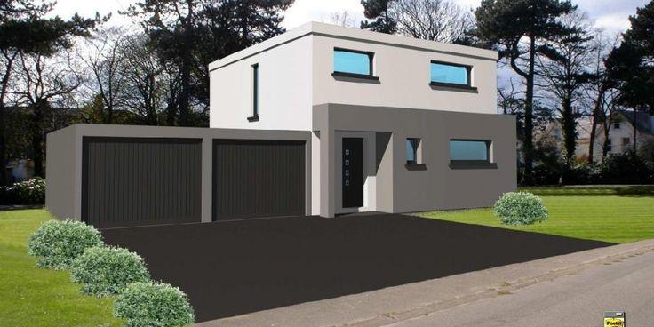 Deuxi�me avant projet qui a encore �volu� depuis... - Notre maison toit plat 105 m2 par Hmelanie sur ForumConstruire.com