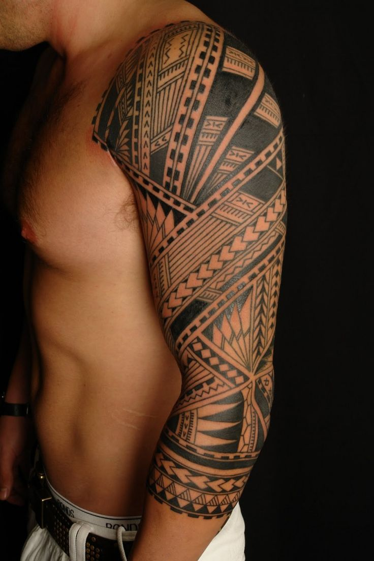 awesome tattoos   tattoo-25-awesome-full-sleeve-tattoo-designs-polynesian-sleeve-tattoo ...