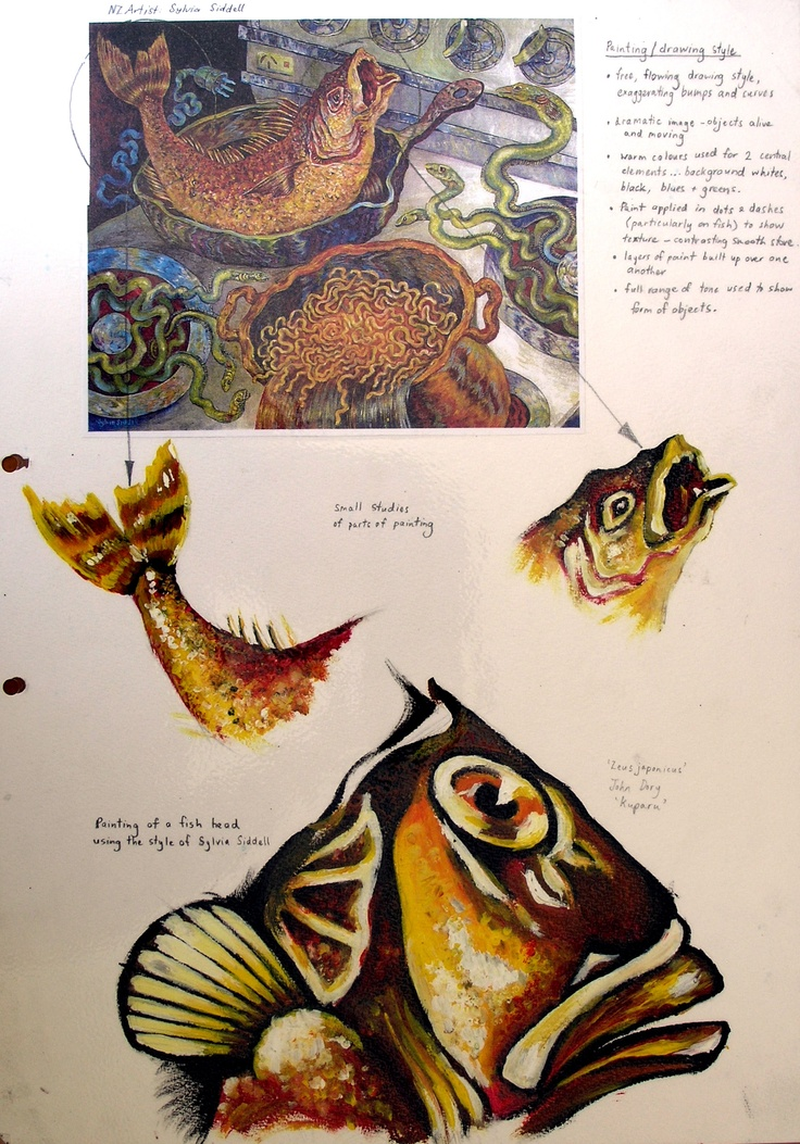 gcse-art-sketchbook-fish