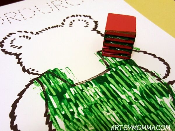 Stamping with Toys - Corduroy Activity