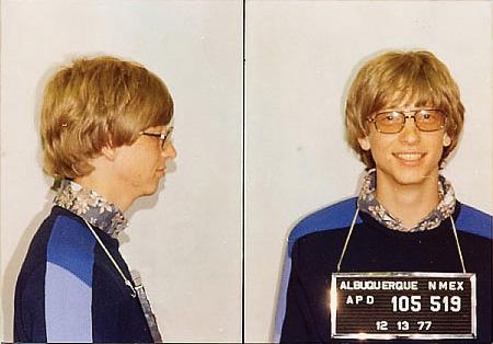 Billy G!! (Pre-billions)Photos, Albuquerque New Mexico, Bill Gates, Mugs Shots, Gates Mugshots, 1977, People, Mug Shots, Celebrities Mugshots