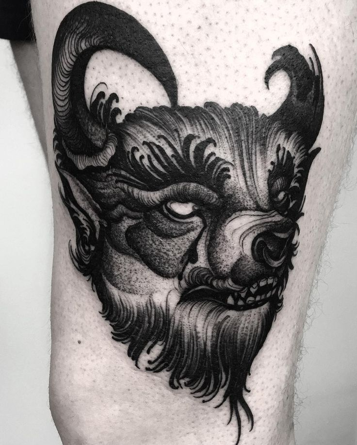 unique Animal Tattoo Designs - We like minotaurs and wolves.