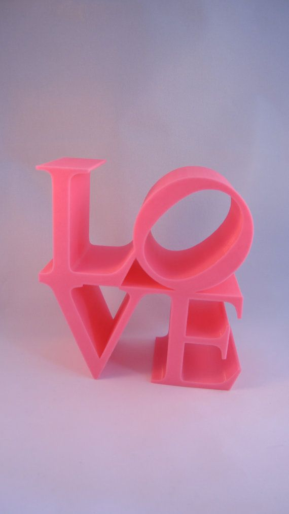 Robert Indianas best known image is the word love in upper-case letters, arranged in a square with a tilted letter O. The iconography first appeared in