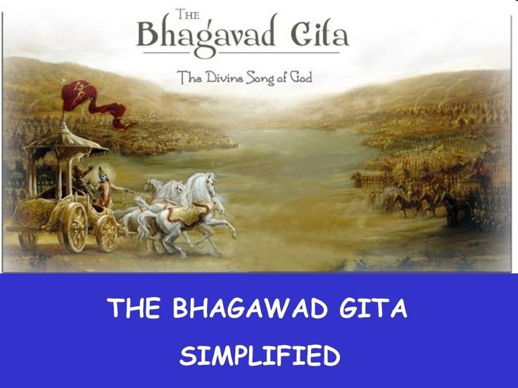 the idea of the independence of an individuals self in the bhagavad gita Bhagavad gita as it is - original 1972 version | translation of gita slokas in english the bhagavad gita (sanskrit: भगवद्गीता, song of.
