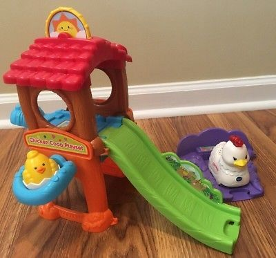 Vtech Go Smart Animals Chicken Coop Play Set Singing Pre School Toy Hen Slide