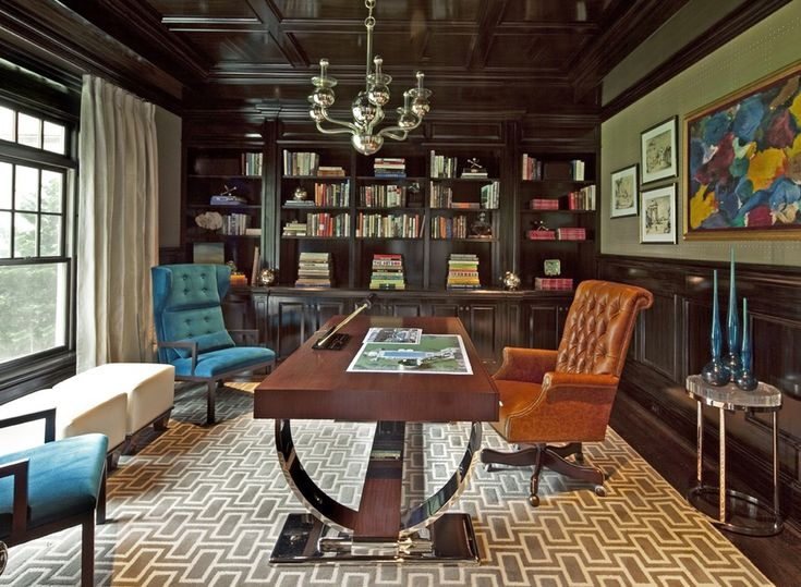 If inspiration is the mother of invention, then these chic home offices are fonts of creativity. Whether colorful and high-gloss or rustic yet refined, these 15 spaces make us dream of getting organized and getting to work... #home-office