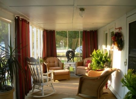 I like sun porches.  This is so nice.